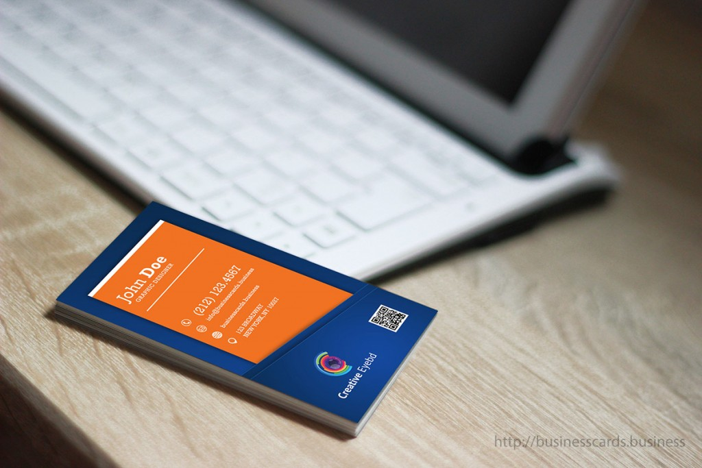 Creative Vertical Orange Business Card