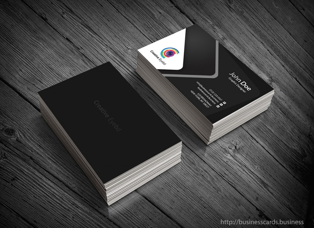 Free Dark Business Card Template
