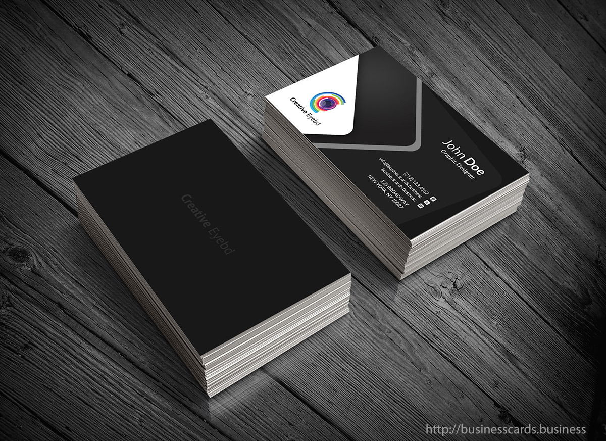 free dark business card template   business cards templates