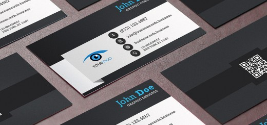 Free vertical dark business card template business cards templates free qr code business card template accmission Image collections