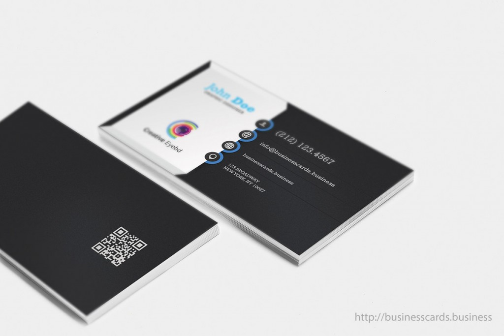 John doe business card templates business cards templates free vertical dark business card template wajeb Gallery