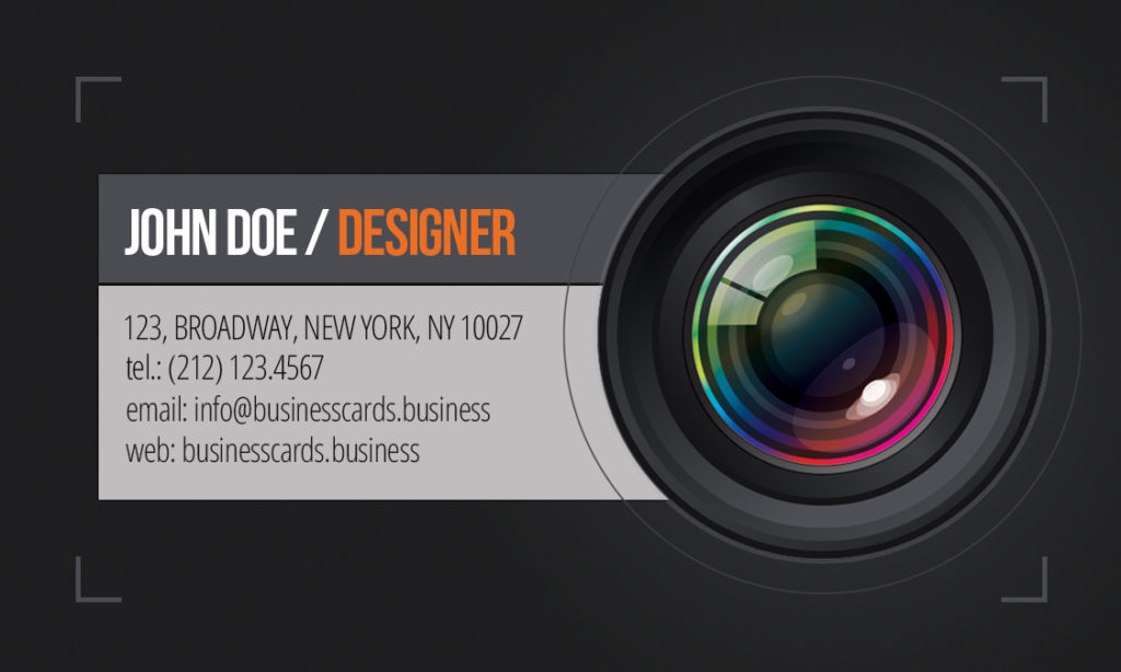Free photography business card template business cards templates business card preview front and back sides accmission Images