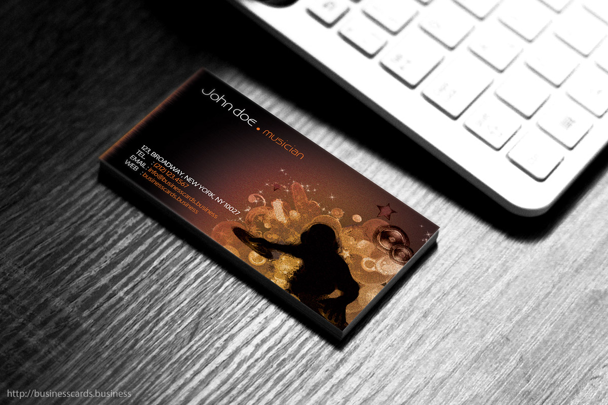 free dj business card template   business cards templates