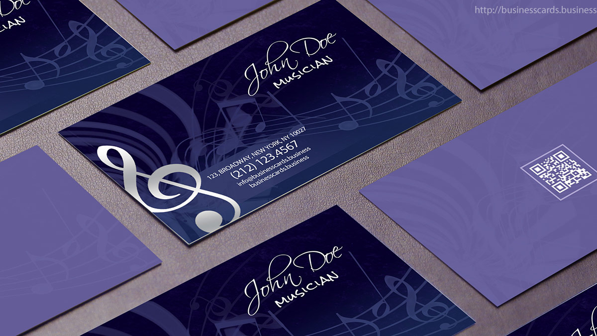 Free Music Business Card Template
