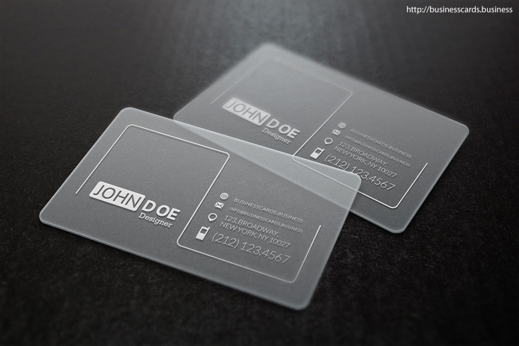 Free Clean Glossy Business Card Template