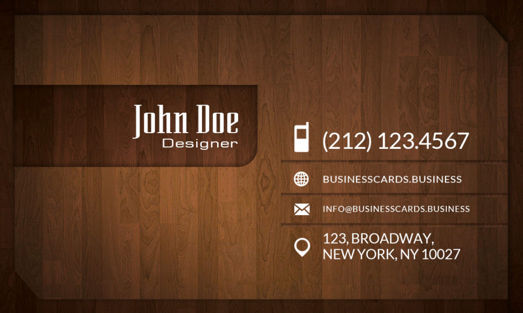 Free wood business card template business cards templates business card preview front and back sides reheart Choice Image