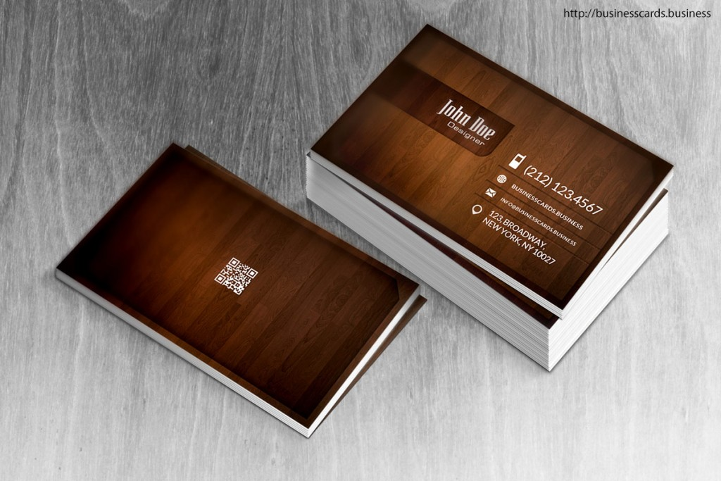 Free Wood Business Card Template