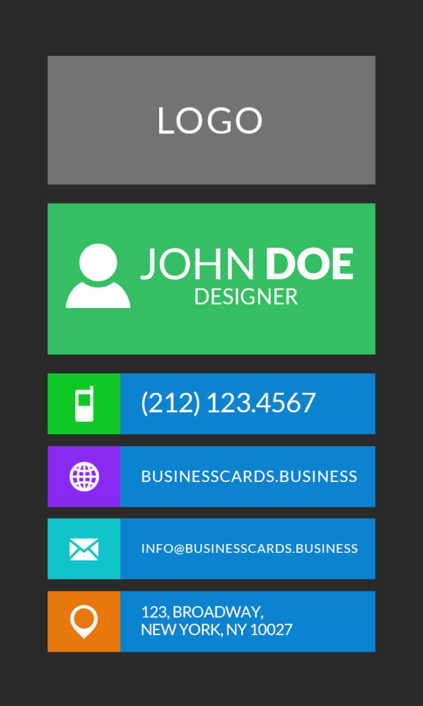Free flat business card template business cards templates for Mib business card