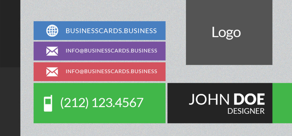 Free Mini Business Card Template with Flat Style : Business Cards ...