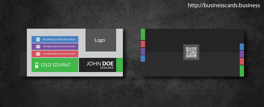 Free Mini Business Card Template with Flat Style