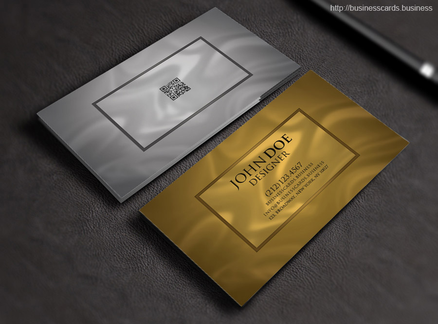 Free Luxury Business Card PSD Template