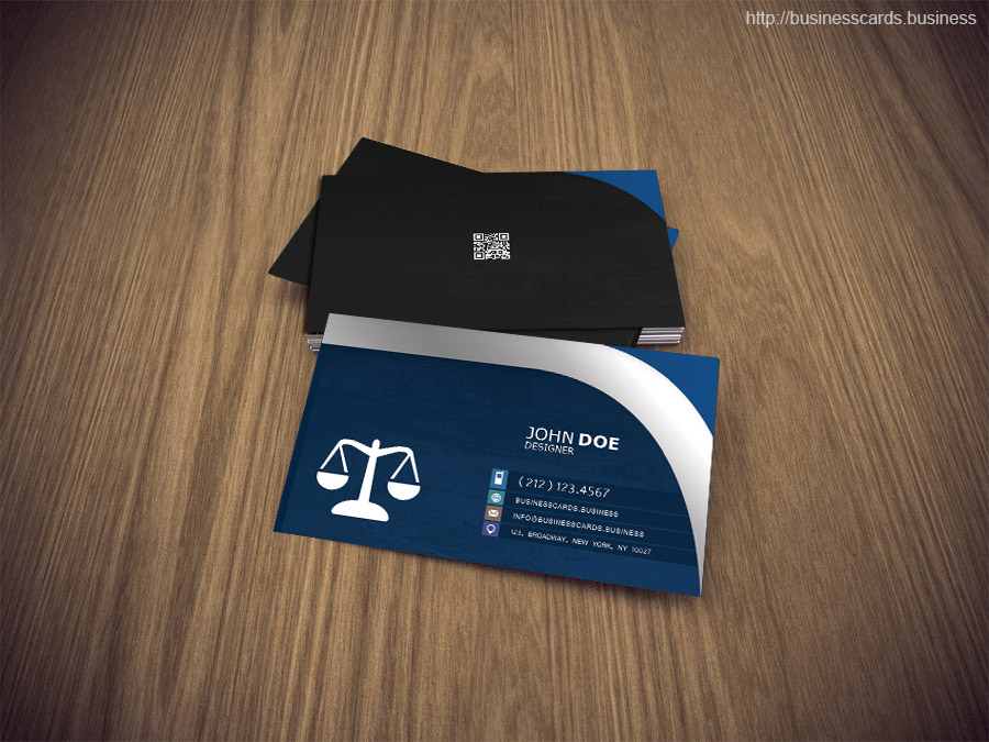 Free Attorney Business Card PSD Template : Business Cards Templates