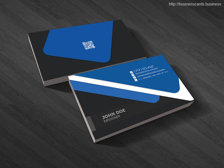Free Thick Business Card PSD Template : Business Cards Templates