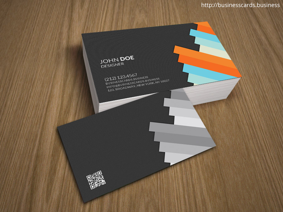 Free Professional 3D Business Card Template for shop