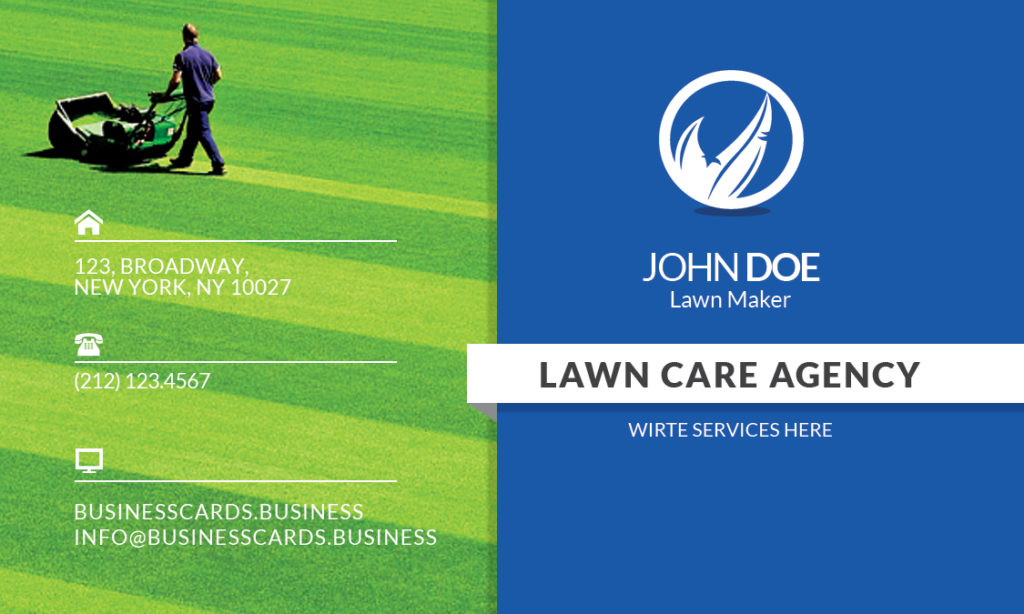 Free Lawn Care Business Card Template For Photoshop Business - Lawn care business cards templates free