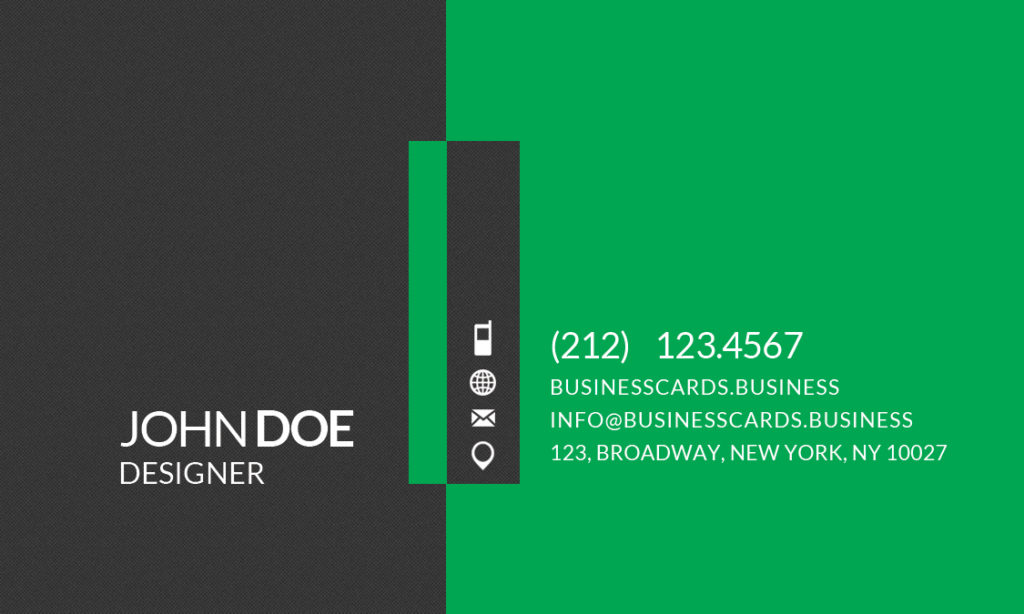 Simple business card template for photoshop business for Mib business card