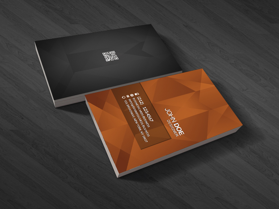 Qr code business card templates business cards templates jewerly business card psd template reheart Image collections