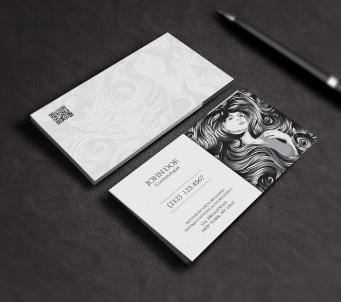 free cosmetology business card template psd