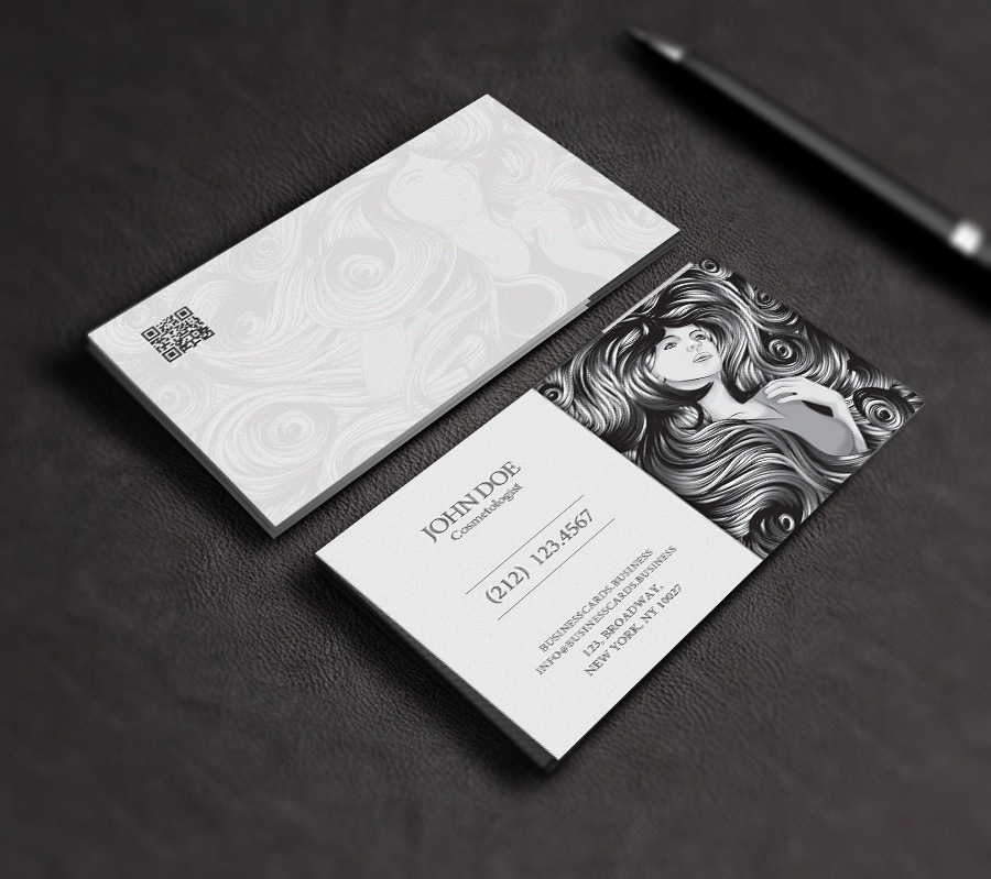 Free Cosmetology Business Card Template PSD : Business Cards Templates