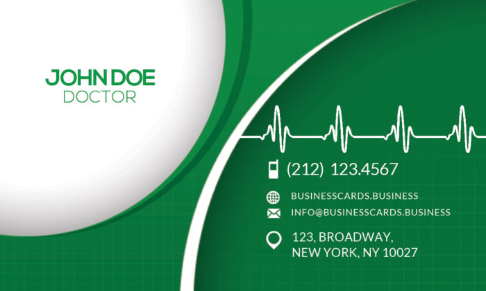 free medical business card psd template business cards
