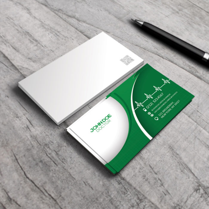 Free business card templates business cards templates free medical business card psd template wajeb Images