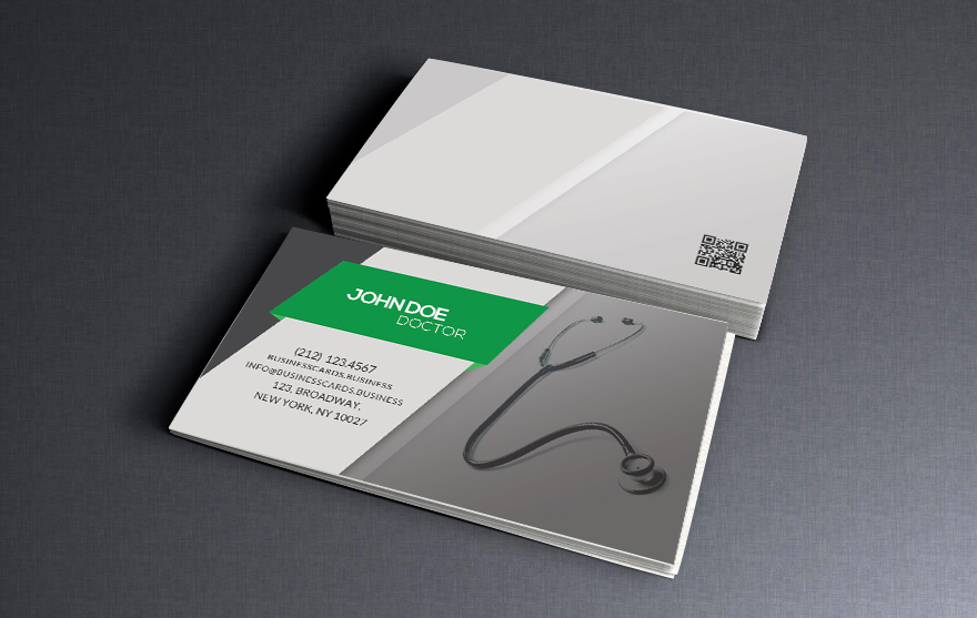 free healthcare business card psd template