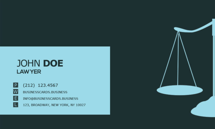 Free Lawyer Business Card PSD Template Business Cards Templates - Lawyer business card templates