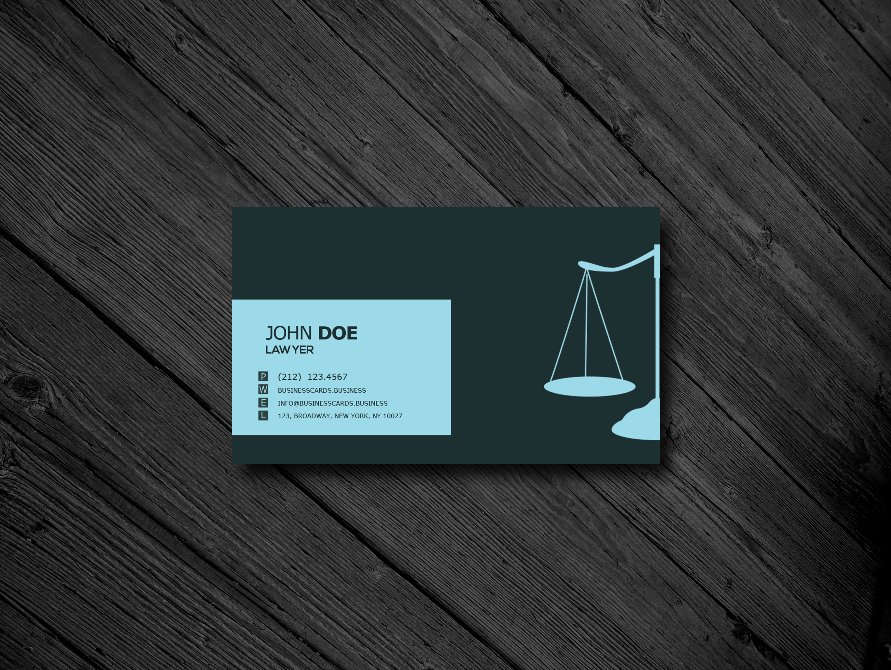 free lawyer business card psd template