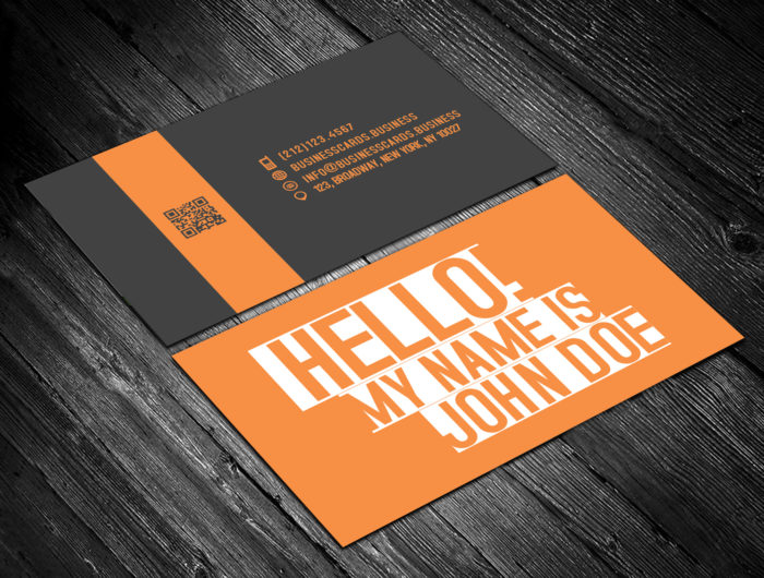Free Name Tag Card Template for Photoshop