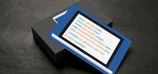 Programmer Business Card Template