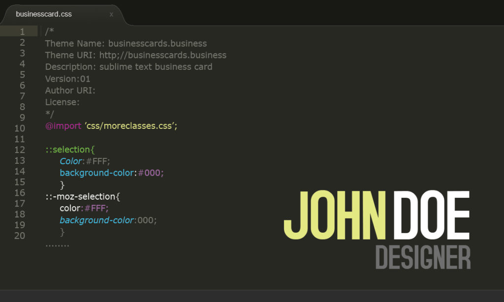 Free Developer Business Card Template for Photoshop : Business ...