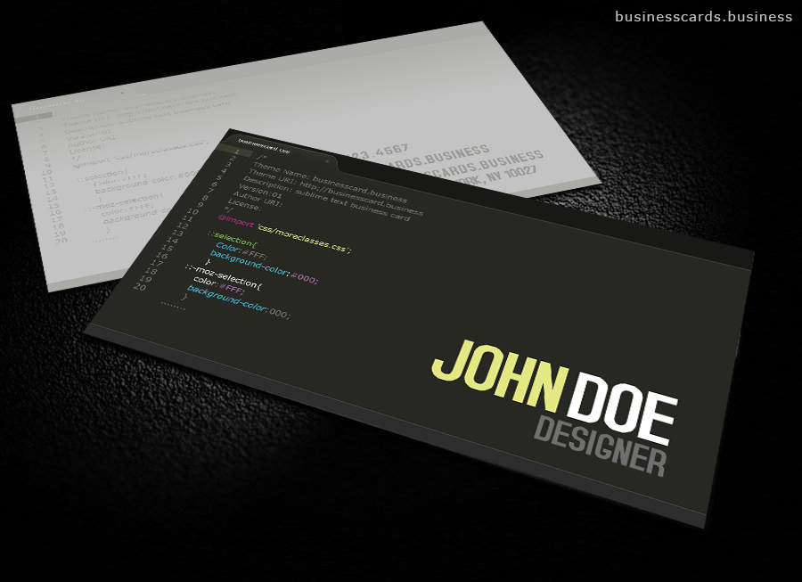 Free Developer Business Card Template For Photo