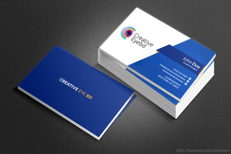 Free Eye BD Business Card Template